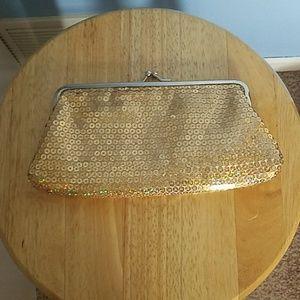 Handbags - Gold sequin clutch